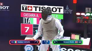 Shanghai GP 2018 Men's Foil Semi Final 1   Kruse GBR vs Cassara ITA thumbnail