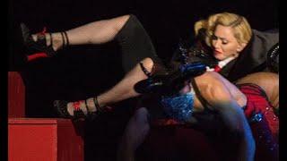 La Caida de Madonna en pleno Show [BRIT Awards 2015]  (+ Parodia)