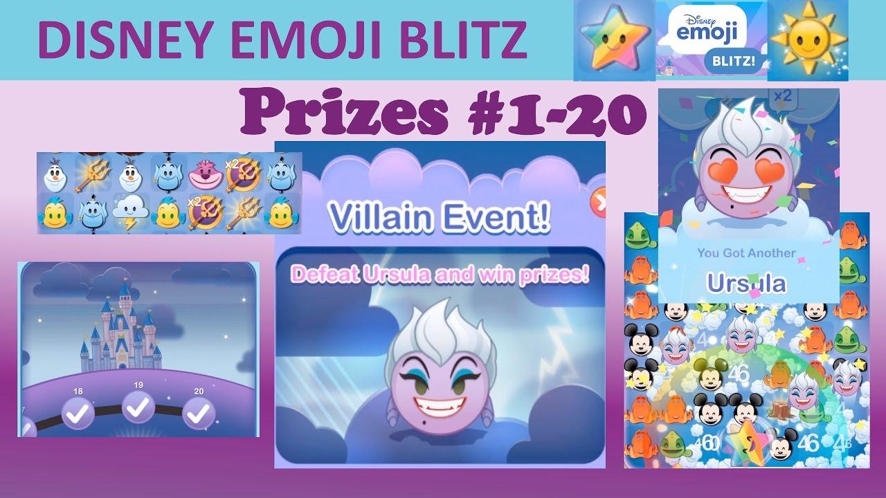 Disney Emoji Blitz Ursula Villain Event May 2017 Prizes 1 20 Ursula Power 3 Gameplay