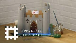 كيفية جعل قلعة الورق المقوى