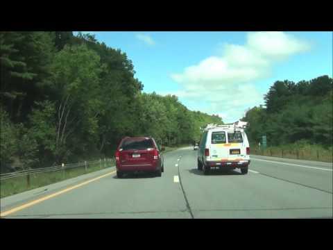 New York - Interstate 87 North (Adirondack Northway) - Mile Marker 40 to 60
