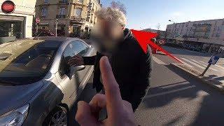 Accident avec un MOTARD de la POLICE et il la ramène !