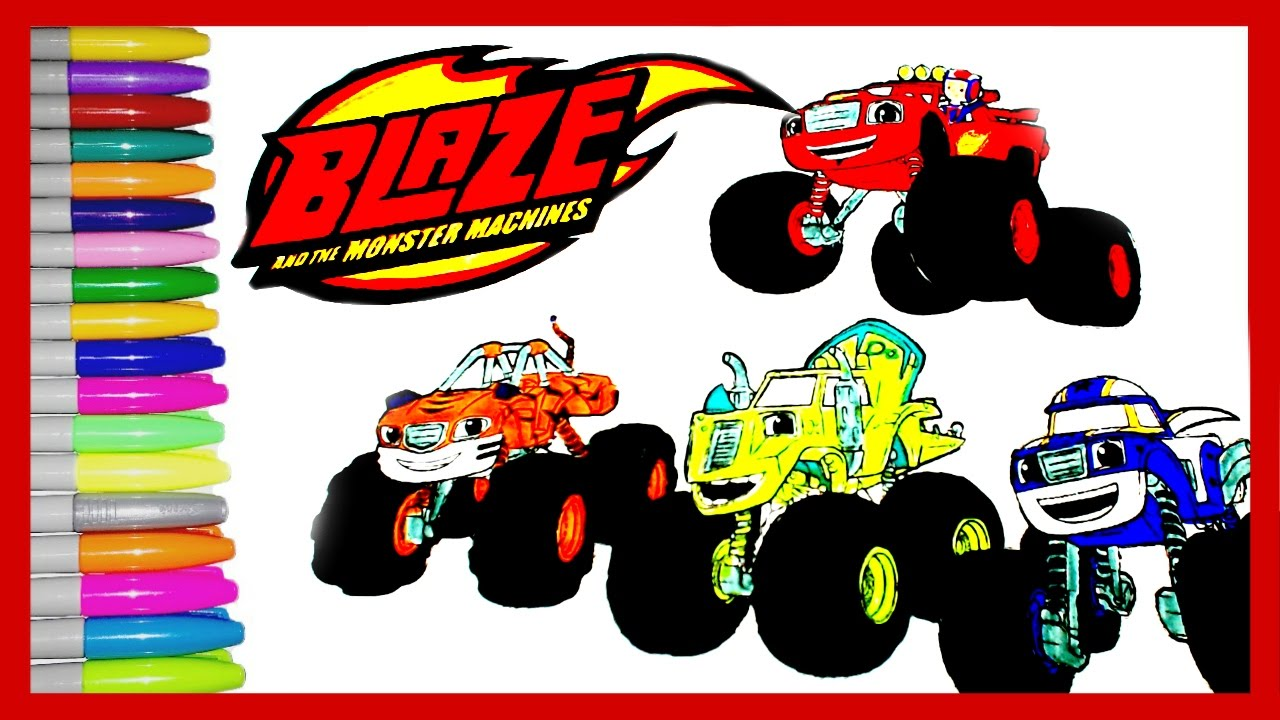 Blaze And The Monster Machines Coloring Pages How To