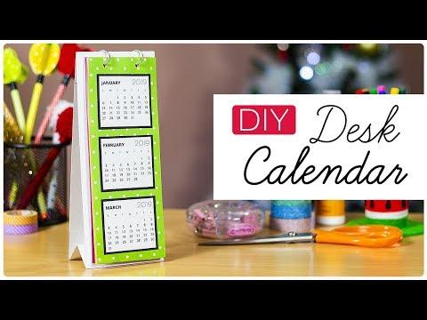 DIY Desk Calendar 2019 | How to make a Desk Calendar | Handmade Calendar
