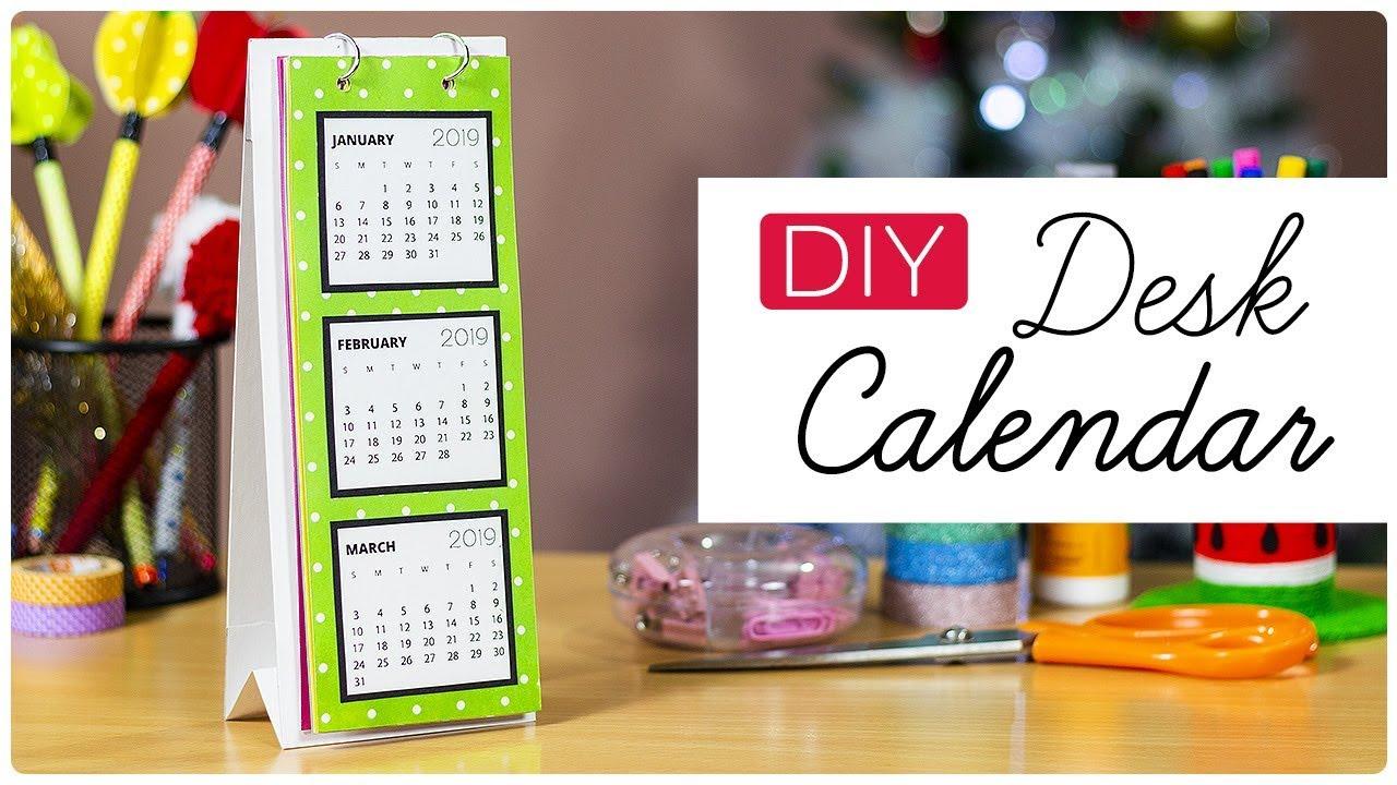 Diy Desk Calendar 2019 How To Make A Desk Calendar Handmade