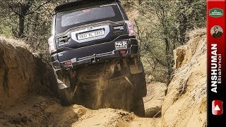 Scorpio 4wd, Duster AWD, Fortuner, Endeavour, Gypsy- Going down through deep ruts June 2017