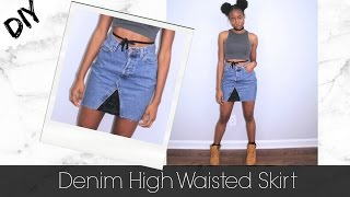 DIY | How To Turn Jeans Into A Skirt