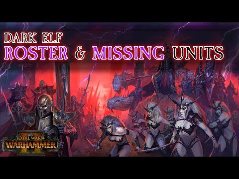 Dark Elf Roster Reveal & Missing Units | Total War: Warhammer 2
