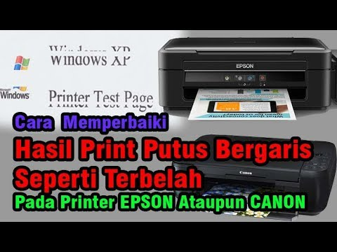 Hasil Print Bergaris Printer Epson Atau Printer Canon Youtube