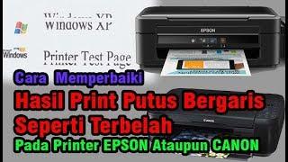 Hasil Print Bergaris || Printer Epson atau Printer Canon