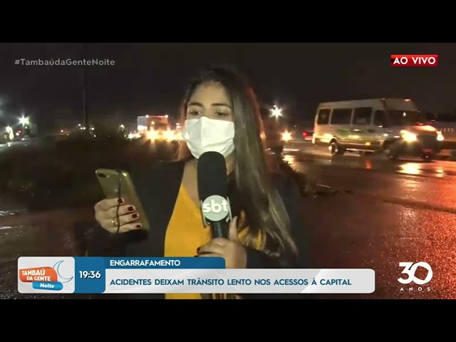 Acidentes deixam trânsito lento nas ruas de acesso a capital - Tambaú da Gente Noite