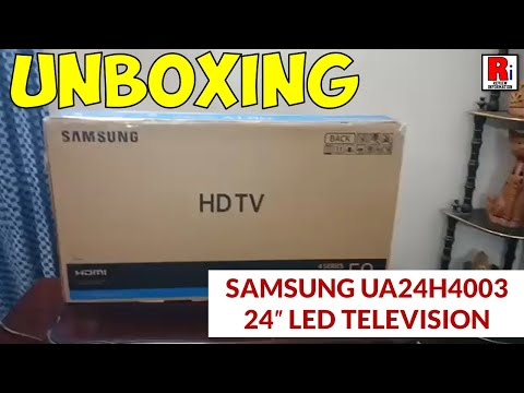 Samsung UA24H4003 24″ LED Television Unboxing