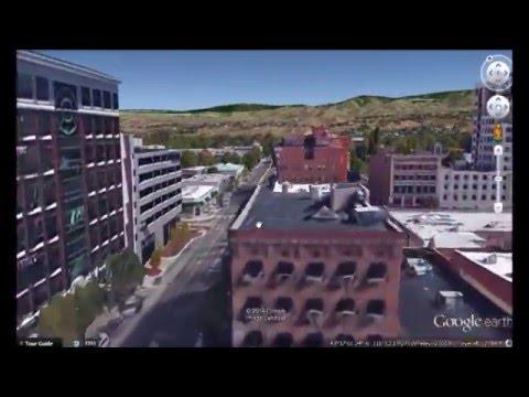 3d Boise, Idaho on Google Earth; Capital; downtown, Boise State University; who needs a drone?