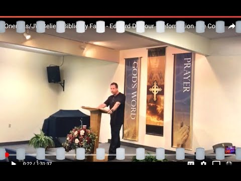 Oneness/JW Beliefs Biblically False - Edward Dalcour - Reformation Fire Conf