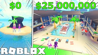 We spent $25,000,000 building a Tropical Resort!   Roblox: Tropical Resort Tycoo