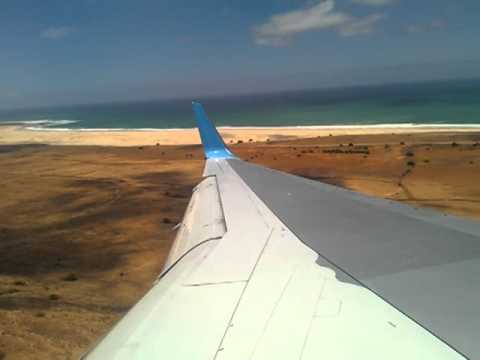 Thomson Airways Landing Boa Vista, Cape Verde