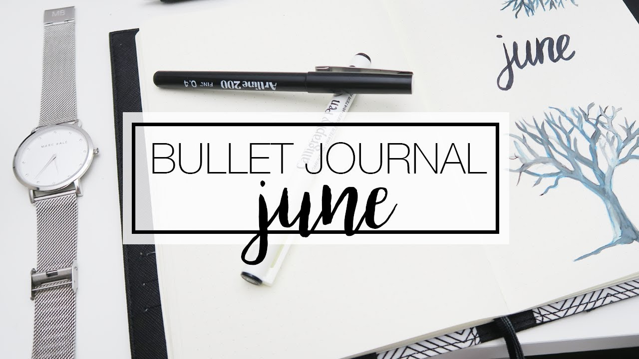 june bullet journal organise plan with me youtube. Black Bedroom Furniture Sets. Home Design Ideas