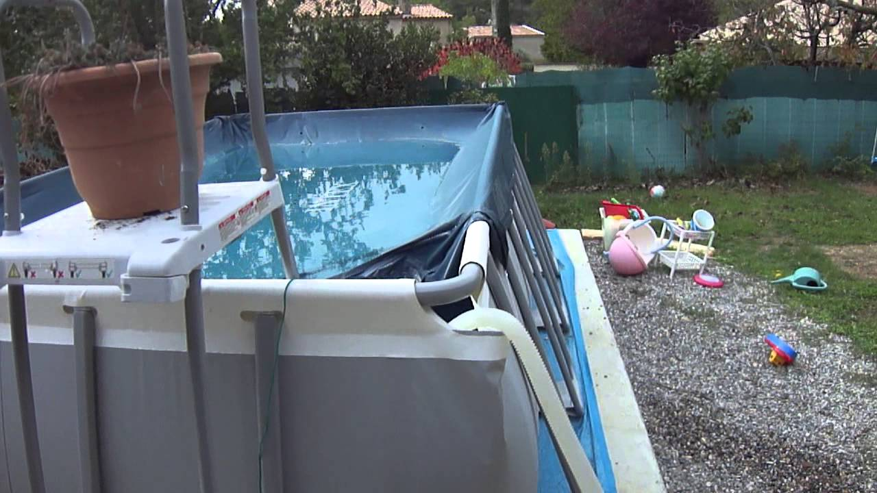Comment vider sa piscine de 13100 litres - YouTube