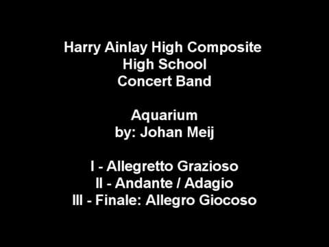 "Harry Ainlay Concert Band 2011 -  ""Aquarium"" by Johan de Meij"