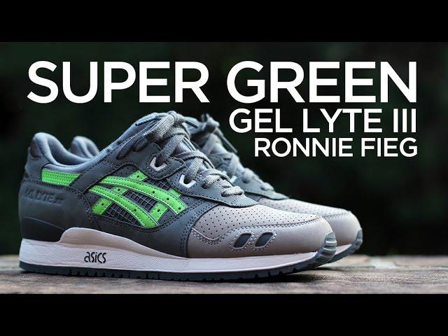 ronnie fieg x asics super green