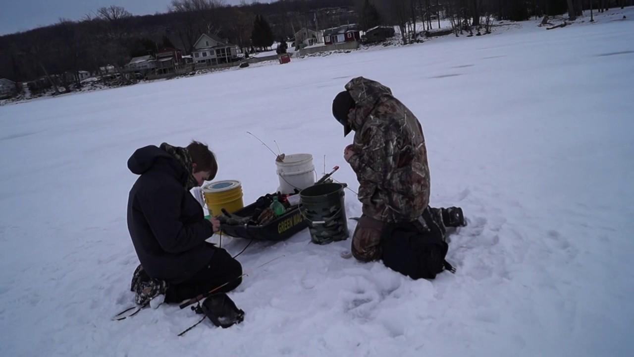 Ice fishing lake champlain 2017 youtube for Ice fishing 2017