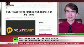 Teen launching alternative news network