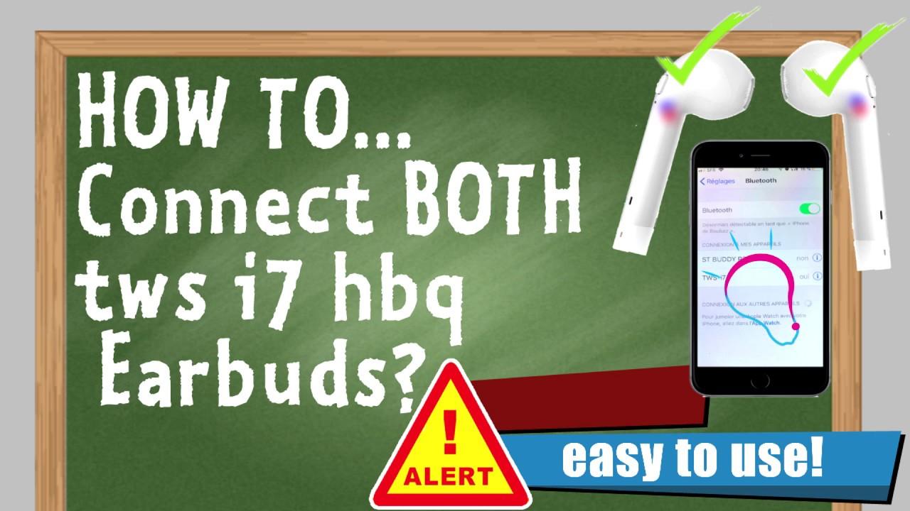 How To Pair Both Hbq I7 Tws Headphones Youtube