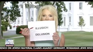Kellyanne Conway uses visual props to say no collusion, but instead delusion and illusion