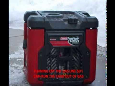 coleman powermate 1850 cold start youtube rh youtube com Coleman Powermate 1850 Specifications Coleman 1850 Watt Generator Parts