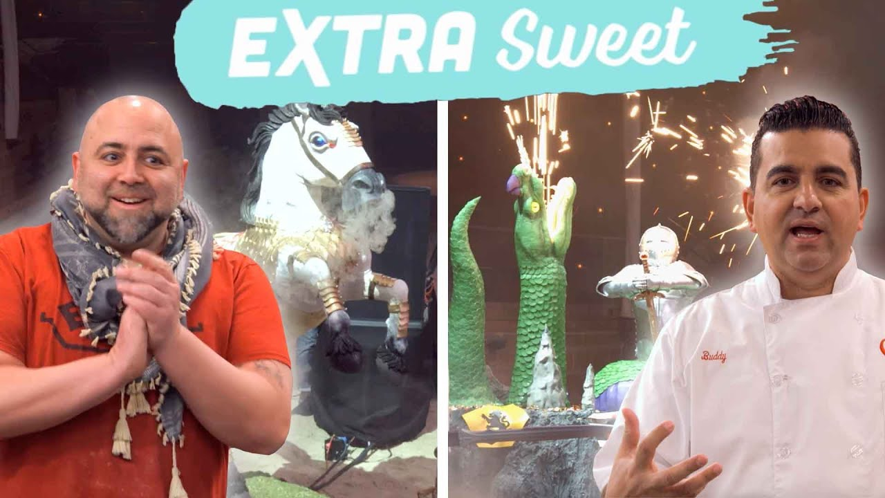 Download Buddy and Duff Create Crazy Medieval Cakes: Extra Sweet | Buddy vs. Duff | Food Network