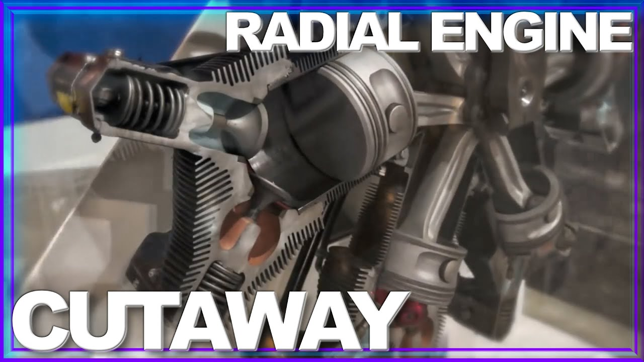 INSIDE LOOK: How a Radial Engine Works AMAZING Cutaway in Motion - YouTube
