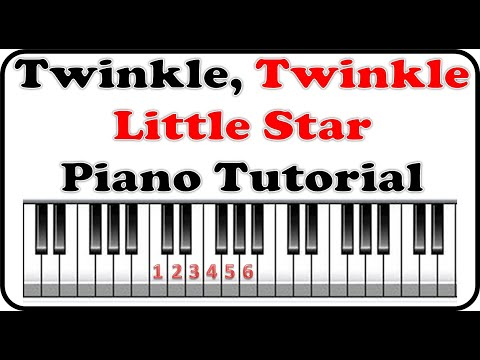 How to play Twinkle Twinkle Little Star - Playing Music By Numbers Piano Lesson