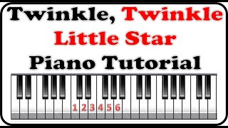 How to play Twinkle Twinkle Little Star - Music By Numbers Piano Lesson