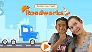 น้องโปรแกรม รีวิวเกมส์ Carl the Super Truck Roadworks   สุดยอดรถก่อสร้าง