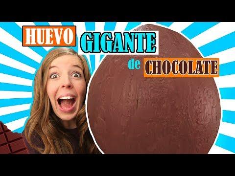 Cómo hacer un HUEVO GIGANTE DE CHOCOLATE