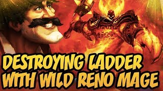 Destroying Ladder With Wild Reno Mage | Rise Of Shadows | Hearthstone
