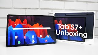 Samsung Galaxy Tab S7+ Premium Android Tablet Unboxing & Overview