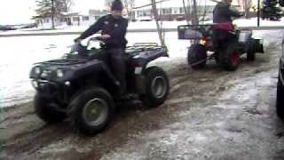 Electric ATV vs Yamaha Grizzley 600 4x4 . For sale E-mail for details .