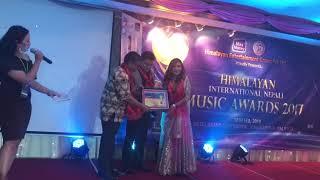 Himalayan international music award-2017(best mhendomaya Model female of the year)