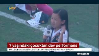 7 yaşındaki çocuktan dev performans... (Ünlü futbolcu İbrahimoviç de Malea'ya hayran kaldı)
