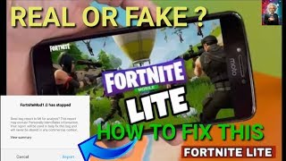 Fortnite Lite Android Real Or Fake || Fix All Problems
