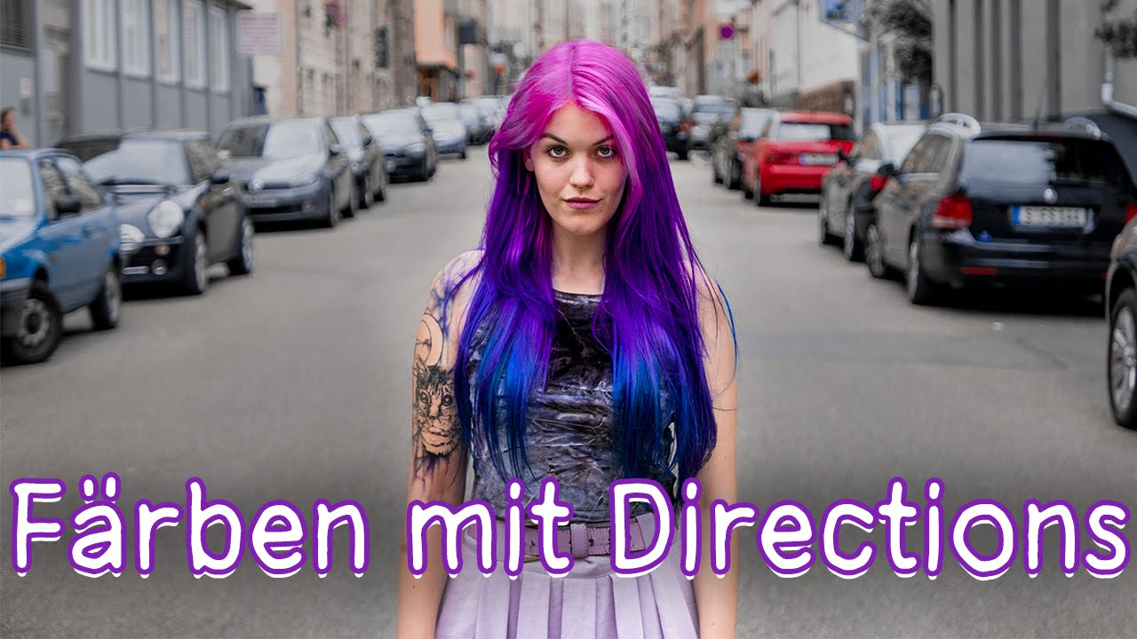 haare pink lila blau ombre f rben mit directions youtube. Black Bedroom Furniture Sets. Home Design Ideas