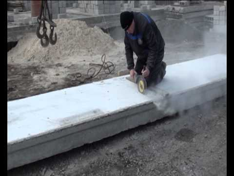 Как отпилить плиту перекрытия болгаркой