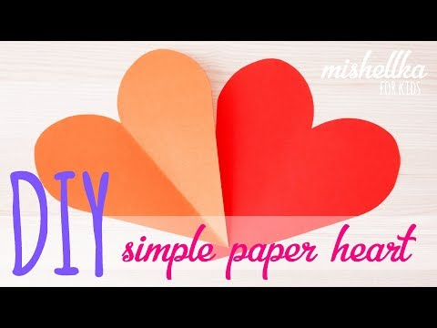 DIY simple perfect paper heart   łatwe idealne papierowe serce - mishellka for kids #4