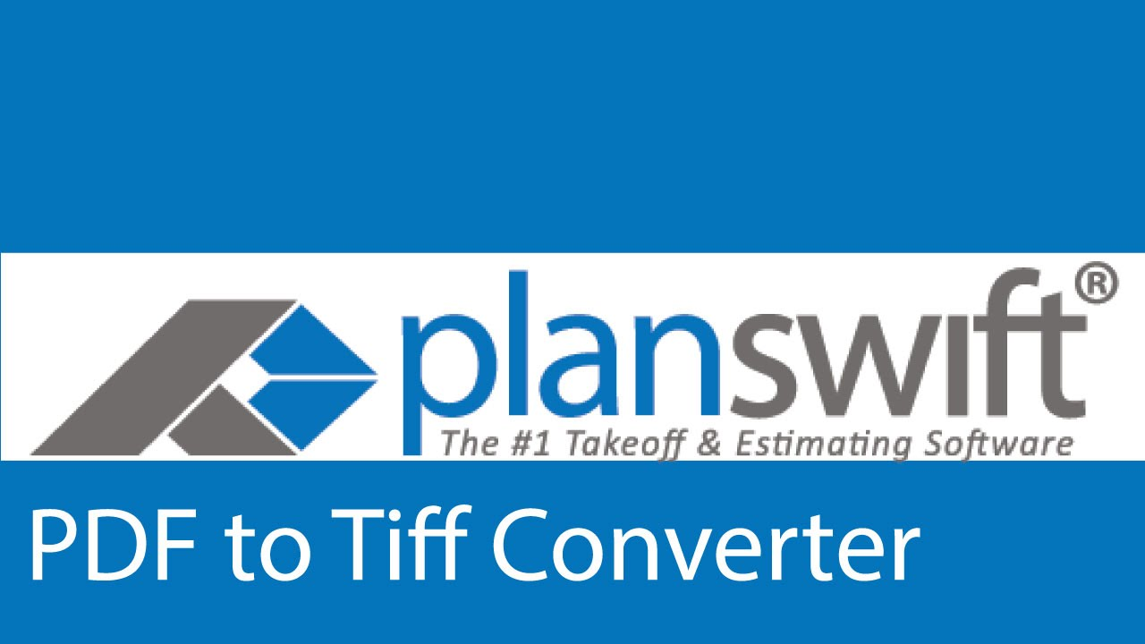 Using the pdf to tiff converter in planswift youtube using the pdf to tiff converter in planswift malvernweather Choice Image
