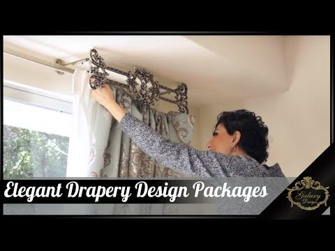 Elegant Drapery Design Packages From Galaxy Design | Video #161