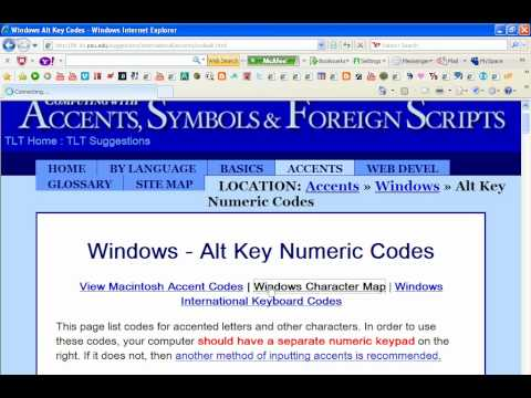 How To Find Alt Key Codes for Accents Symbols Icons