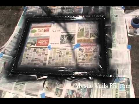 Como Pintar el Marco del Cuadro - YouTube