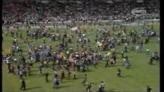 England 1-2 Scotland, International 1977 (Wembley pitch invasion)