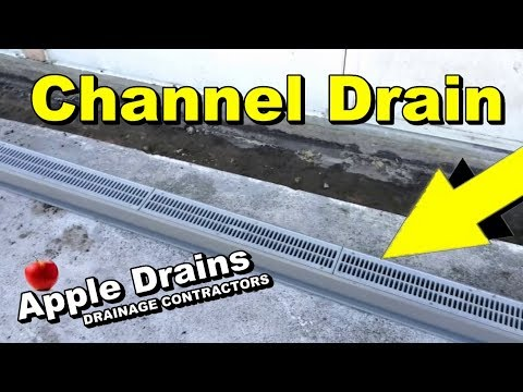 Channel Drain, Sump Pump, French Drain, Best Application.